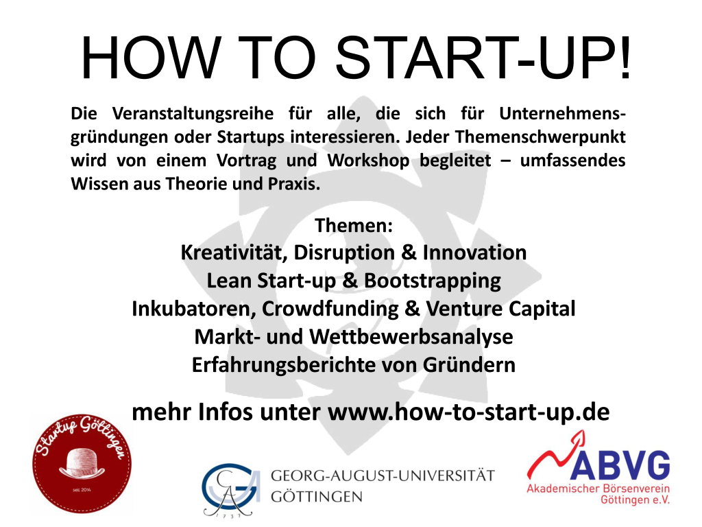 HOW TO START-UP!